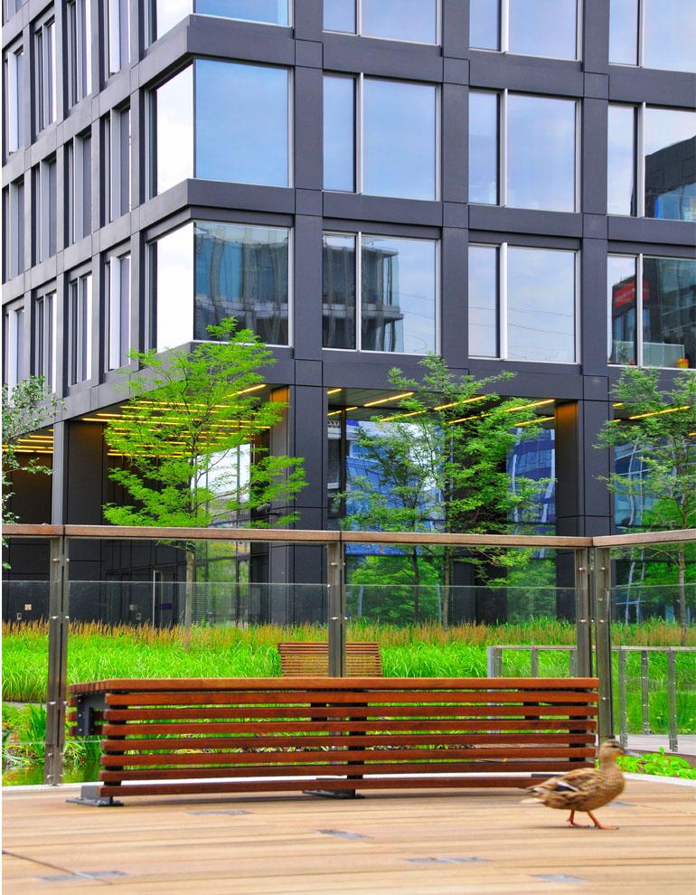 Warszawa biznes park przyklady aranzacji